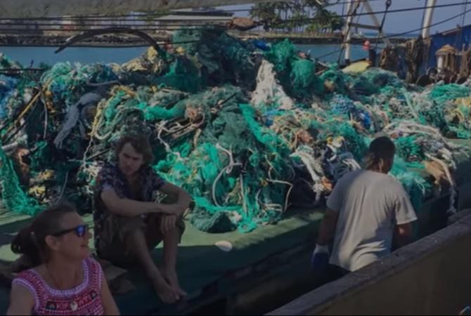 За 25 дней из Тихого океана выловили около 40 тонн пластика [видео]