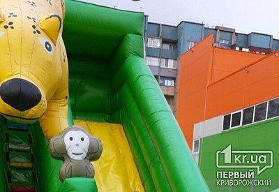 В Кривом Роге ветер перевернул батут с детьми