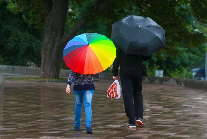 Сегодня днем,16 июля, в Украине пройдут дожди с грозами