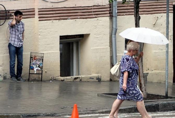 Сегодня днем, 26 июля, в Украине пройдут кратковременные дожди, грозы