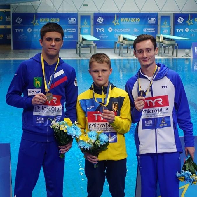 13-летний украинец стал самым юным чемпионом Европы по прыжкам в воду [фото, видео]