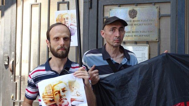 В Одессе протестовали против абсурдного ареста пленника Кремля: яркие фото и видео