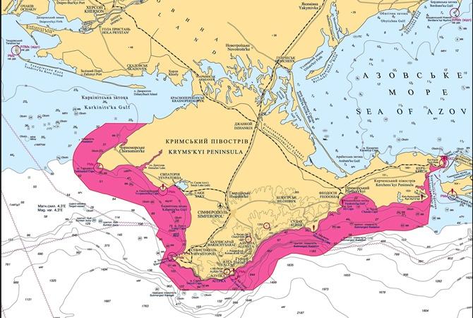 В Госгидрографии предложили, как быть с картой Крыма и близлежащих вод