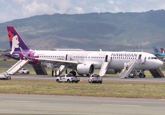 На Гавайях приземлился дымящий самолет с пассажирами, есть пострадавшие [видео]