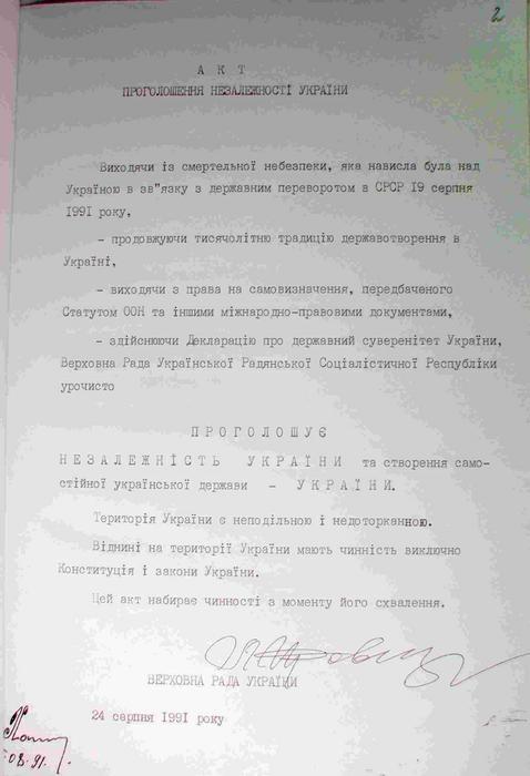 Как принимали Акт провозглашения независимости Украины [фото, документы]