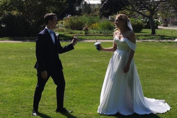 Украинская фехтовальщица вышла замуж за коллегу из Германии [фото]