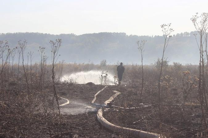 Для тушения торфяников пожарные просят помощи у военных  [фото]