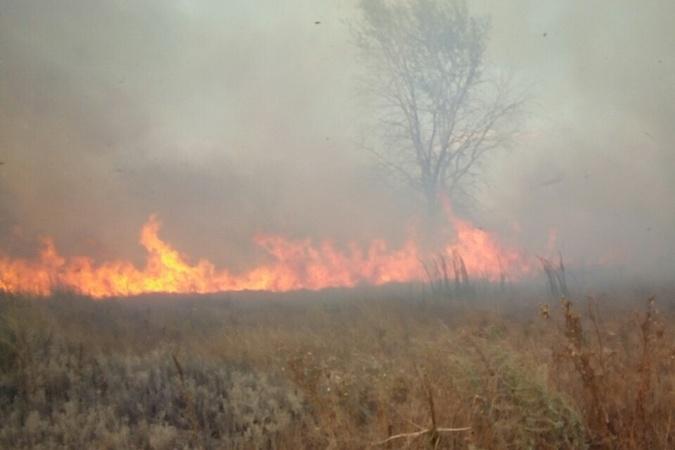 Пожар на военном полигоне в Чугуеве: задействовали танк и вертолет [фото, видео]