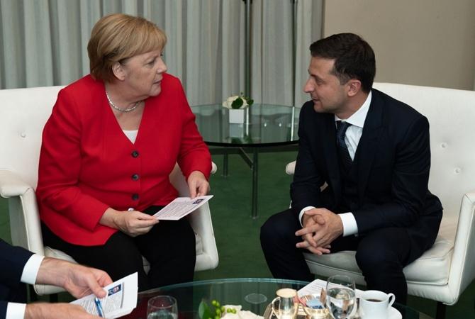 """Зеленский и Меркель обсудили """"Нормандский формат"""" на встрече в ООН"""