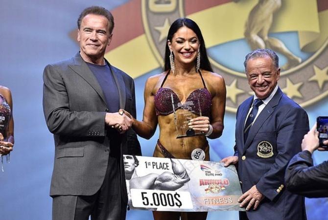 Черкащанка в четвертый раз победила на чемпионате Арнольда Шварценеггера