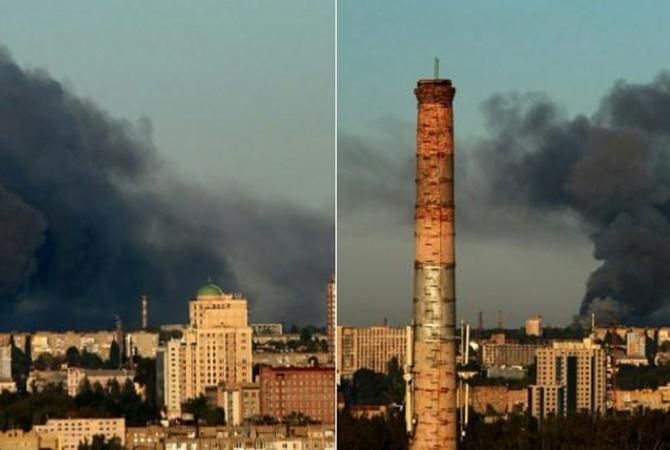 В Донецке гремят взрывы на складах боеприпасов [видео]