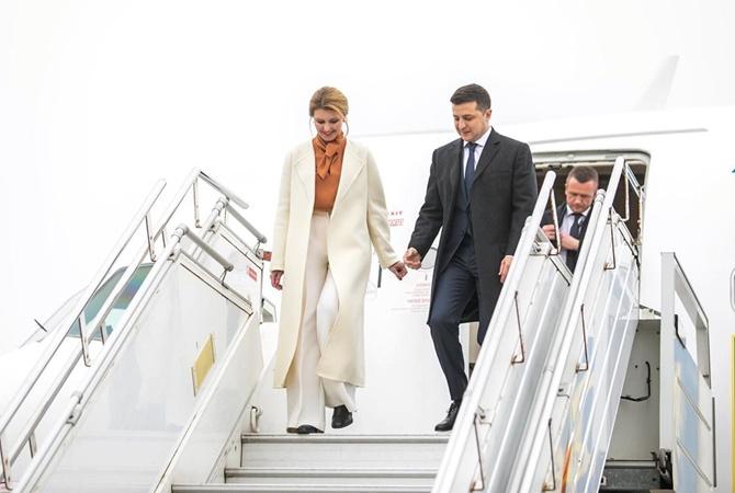 Елена Зеленская прилетела в Эстонию в пальто от Lake Studio [фото]