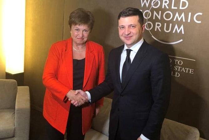 Глава МВФ рассказала Зеленскому в Давосе о родне из Харькова [видео]